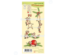 Leane Creatief The World of Mice: Christmas Clear Stamps (55.7460)