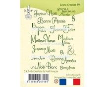 Leane Creatief French Christmas & New Year Clear Stamps (55.7484)