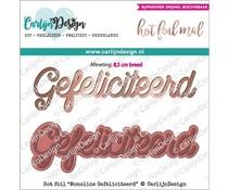 CarlijnDesign Hot Foil Monoline Gefeliciteerd (CDHF-0014)