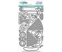 CarlijnDesign Snijmallen Knuffelkaart Accessoires Feest (CDSN-0132)