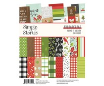 Simple Stories Make it Merry 6x8 Inch Paper Pad (15714)