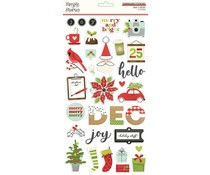 Simple Stories Make it Merry 6x12 Inch Chipboard (15715)