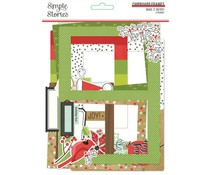 Simple Stories Make it Merry Chipboard Frames (15720)