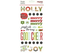 Simple Stories Make it Merry Foam Stickers (15721)