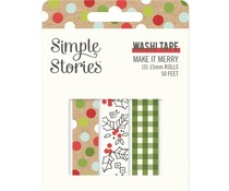 Simple Stories Make it Merry Washi Tape (15725)
