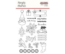 Simple Stories Make it Merry Clear Stamps (15727)