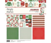 Simple Stories Ugly Christmas Sweater 12x12 Inch Simple Kit (15961)