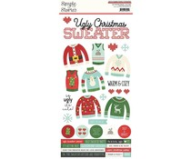 Simple Stories Ugly Christmas Sweater 6x12 Inch Cardstock Sticker (15962)