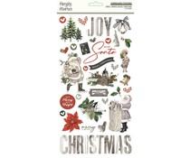 Simple Stories Simple Vintage Rustic Christmas 6x12 Inch Chipboard (16020)