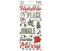 Simple Stories Simple Vintage Rustic Christmas Foam Stickers (16025)