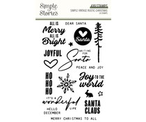 Simple Stories Simple Vintage Rustic Christmas Clear Stamps (16031)
