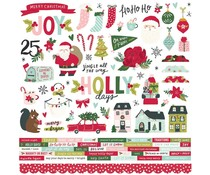Simple Stories Holly Days 12x12 Inch Cardstock Sticker (16101)