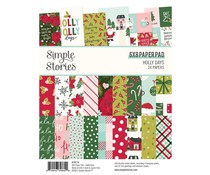 Simple Stories Holly Days 6x8 Inch Paper Pad (16114)