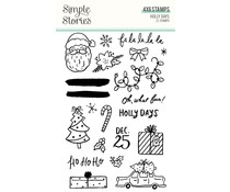 Simple Stories Holly Days Clear Stamps (16125)