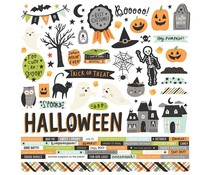Simple Stories Spooky Nights 12x12 Inch Cardstock Stickers (16401)