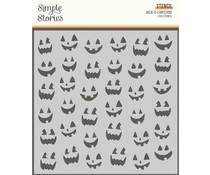 Simple Stories Spooky Nights 6x6 Inch Stencil Jack-O-Lanterns (16424)