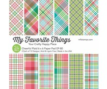 My Favorite Things Cheerful Plaid 6x6 Inch Paper Pad (EP-80)