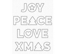 My Favorite Things Joy, Peace, Love Die-namics (MFT-2104)