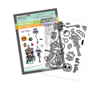 Polkadoodles Grab your Broomstick Clear Stamps (PD8157)