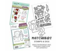 Polkadoodles Gnome Lets Get Blitzen Clear Stamps (PD8175)