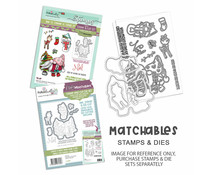 Polkadoodles Gnome Meet Me Under the Mistletoe Clear Stamps (PD8189)