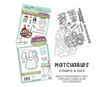Polkadoodles Gnome Tinsel in a Tangle Clear Stamps (PD8191)