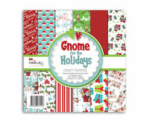 Polkadoodles Gnome for the Holidays 6x6 Inch Paper Pack (PD8209)