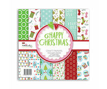 Polkadoodles Happy Christmas 6x6 Inch Paper Pack (PD8210)