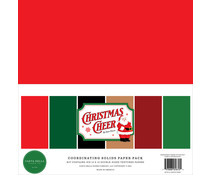 Carta Bella Christmas Cheer 12x12 Inch Coordinating Solids Paper Pack (CBCHR141015)