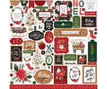 Carta Bella Happy Christmas 12x12 Inch Element Sticker (CBXM140014)