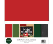 Carta Bella Happy Christmas 12x12 Inch Coordinating Solids Paper Pack (CBXM140015)