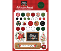 Carta Bella Happy Christmas Adhesive Brads (CBXM140020)