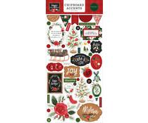 Carta Bella Happy Christmas 6x13 Inch Chipboard Accents (CBXM140021)