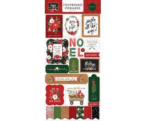Carta Bella Happy Christmas 6x13 Inch Chipboard Phrases (CBXM140022)