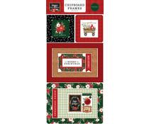 Carta Bella Happy Christmas 6x13 Inch Chipboard Frames (CBXM140065)