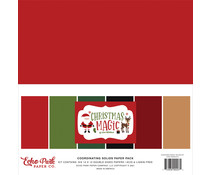 Echo Park Christmas Magic 12x12 Inch Coordinating Solids Paper Pack (CM254015)