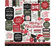 Echo Park Salutations Christmas 12x12 Inch Element Sticker (SAC255014)