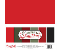 Echo Park Salutations Christmas 12x12 Inch Coordinating Solids Paper Pack (SAC255015)
