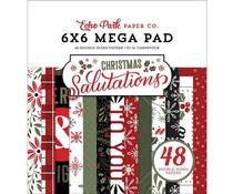Echo Park Salutations Christmas Cardmakers 6x6 Inch Mega Pad (SAC255031)