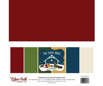 Echo Park The First Noel 12x12 Inch Coordinating Solids Paper Pack (TFN256015)