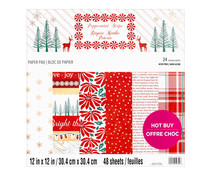 Craft Smith Peppermint Stripe 12x12 Inch Paper Pad (MSE7487)