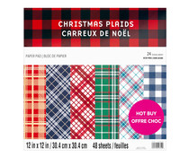 Craft Smith Christmas Plaids 12x12 Inch Paper Pad (MSE7568)