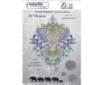 IndigoBlu Ornate Elephant A5 Rubber Stamps (IND0851)