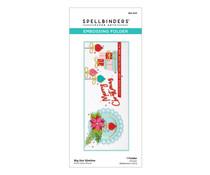 Spellbinders Big Dot Slimline Embossing Folder (SES-023)