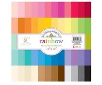 Doodlebug Design Rainbow 12x12 Inch Textured Cardstock Paper Pack (7267)