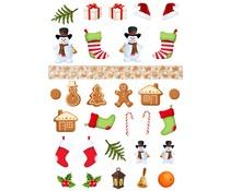 Reprint Snowman & Friends A4 Cutouts (KP0083)