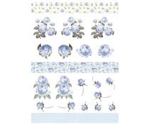 Reprint Blue Rose Romance A4 Cutouts (KP0084)