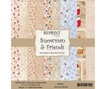 Reprint Snowman & Friends 12x12 Inch Paper Pack (CRP042)