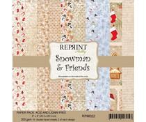 Reprint Snowman & Friends 8x8 Inch Paper Pack (RPM022)