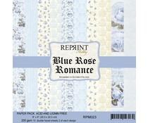 Reprint Blue Rose Romance 8x8 Inch Paper Pack (RPM023)